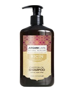 ARGANICARE Castor Oil szampon stymulujący porost włosów 400ml