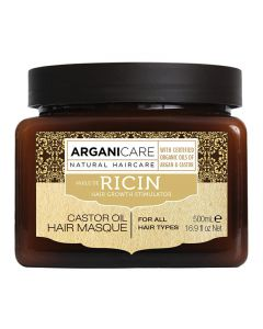 ARGANICARE Castor Oil maska stymulująca porost włosów 500ml