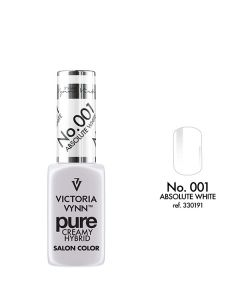 VICTORIA VYNN 001 Pure Creamy Hybrid Absolute White kremowy Lakier hybrydowy 8ml