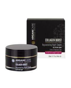 ARGANICARE Collagen Boost krem odmładzający na noc 50ml