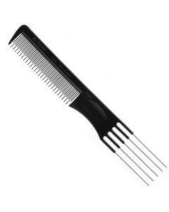 EURO STIL 1469 profesjonalny grzebień fryzjerski z metalowymi szpikulcami