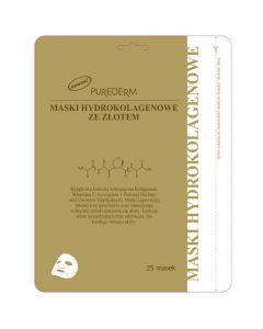 PUREDERM Maska hydrokolagenowa ze złotem multipak 25 szt.