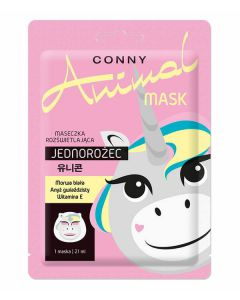 CONNY Animal JEDNOROŻEC koreańska maseczka na twarz 1szt.